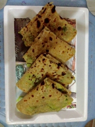 Raw papaya stuffed paratha