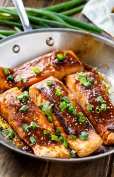 Salmon with citrus � cilantro salsa