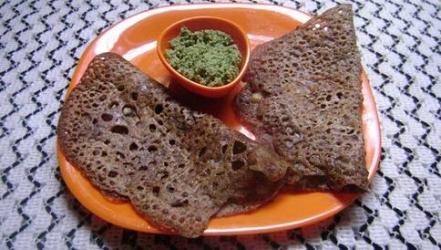 Crunchy Ragi Dosa