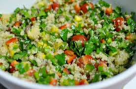 sweet chilli quinoa salad