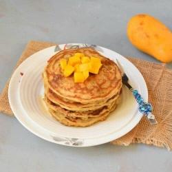 Vegan quinoa mango 🥭 pancake
