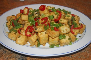 crispy tofu with veggies