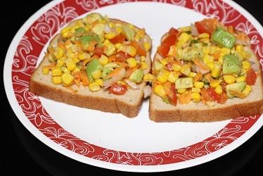 Avocado veg sandwich