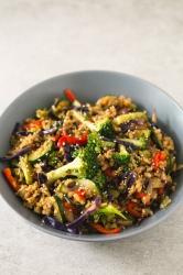 Teryaki stir fry rice bowl meal