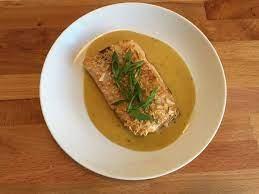 Fish in mustard sauce.